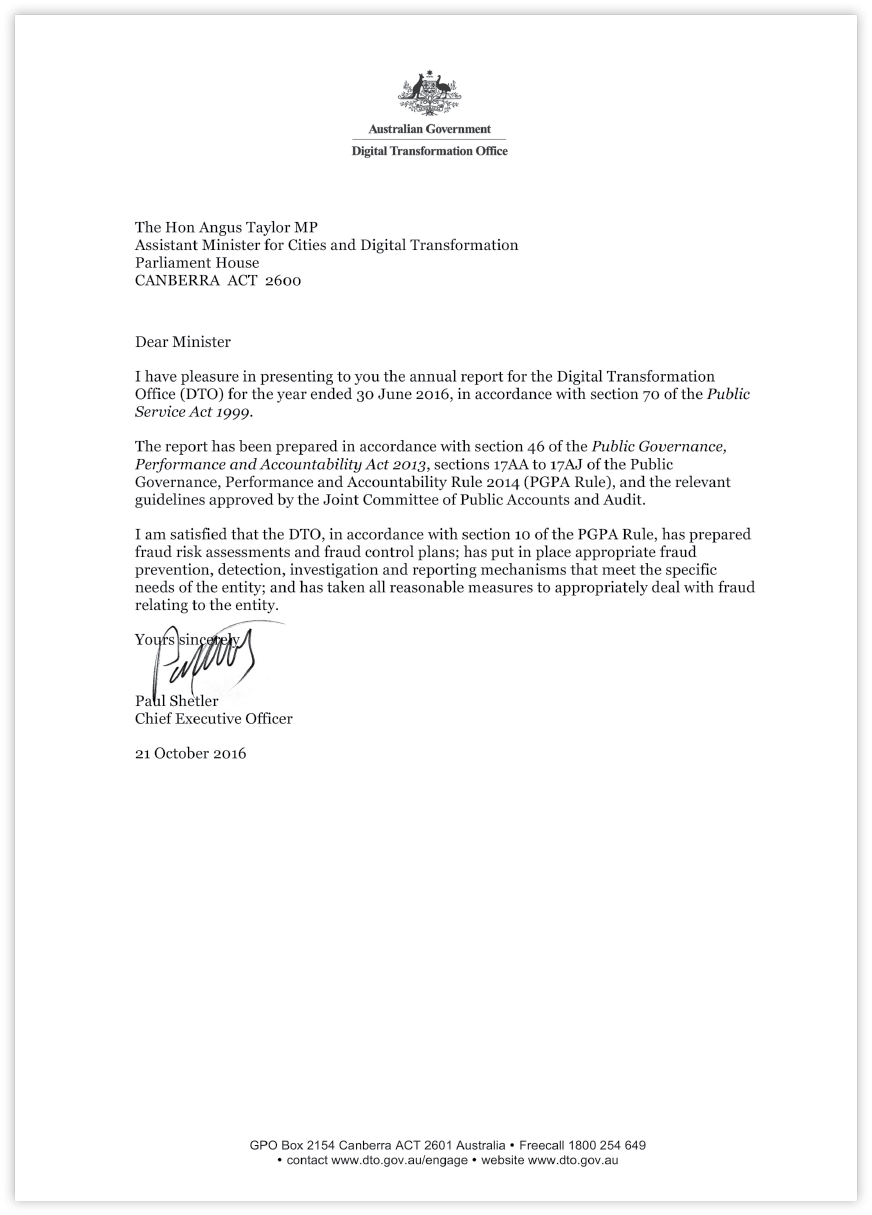 Scanned letter of transmittal. Use above link for the full text version.