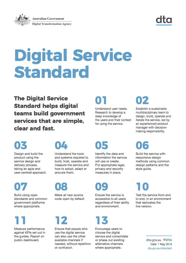 The Digital Service Standard