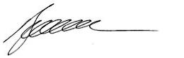 Signature of Randall Brugeaud