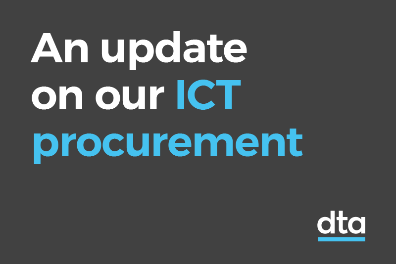 An update on our ICT procurement