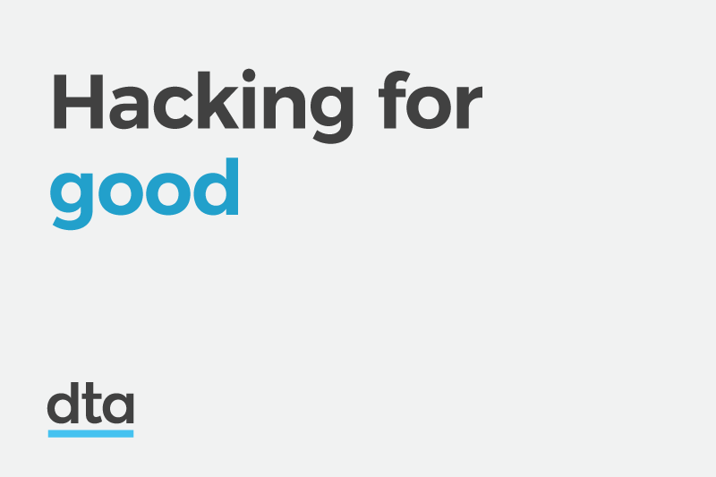 Hacking for good.