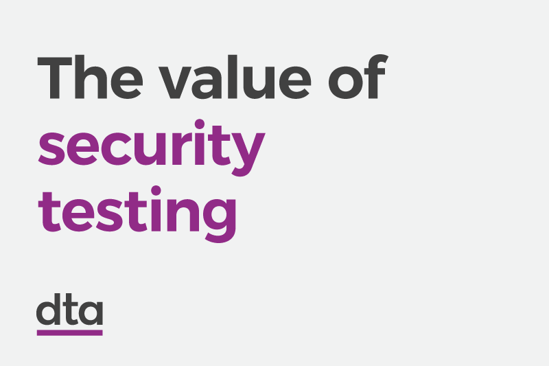 The value of security testing.