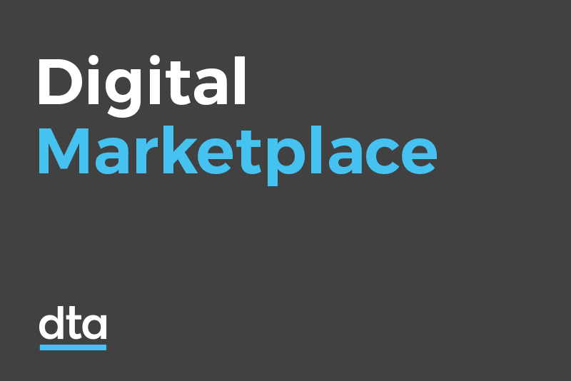A tile with the words Digital Marketplace