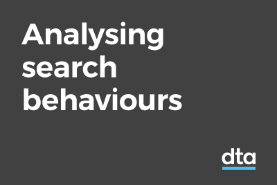 Analysing search behaviours