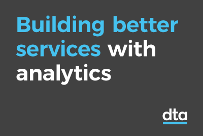 Building better services with analytics