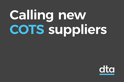 Calling new COTS suppliers