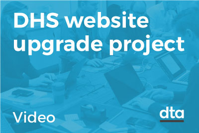 DHS website upgrade project