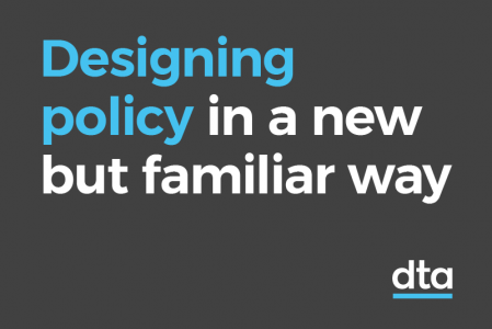 Designing policy in a new but familiar way