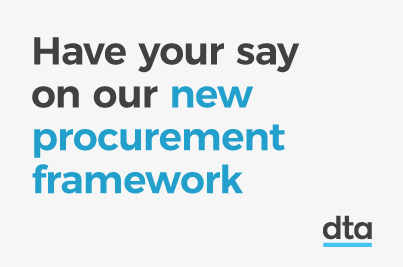 A picture of the words 'Have your say on our new procurement framework'
