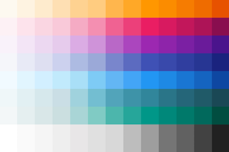 Our custom accessible colour palette incorporating Google Material Design.