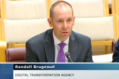 DTA CEO Randall Brugeaud appearing at Senate Estimates.