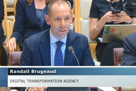 Randall Brugeaud speaking at senate estimates