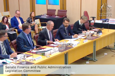 A screenshot of the Senate Estimates opening statement.