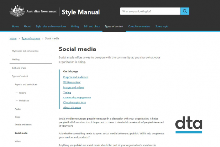 A screenshot of the Style Manual private beta website.