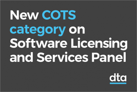 New COTS category on Software Licensing and Services Panel