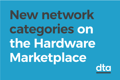 New network categories on the Hardware Marketplace